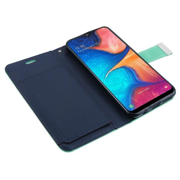 MyJacket Xtra Wallet Galaxy A20 (2019) Case - Teal Green/Navy