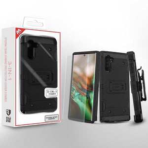 Storm Tank Hybrid Galaxy Note 10 Case Holster Combo - Black