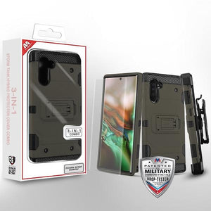 Storm Tank Hybrid Galaxy Note 10 Case Holster Combo - Dark Grey