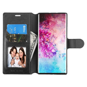 MyJacket Element Wallet Galaxy Note 10+ Plus Case - Black