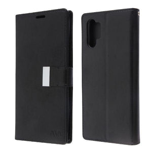 Xtra Series Essential Leather Wallet Galaxy Note 10+ Plus Case - Black