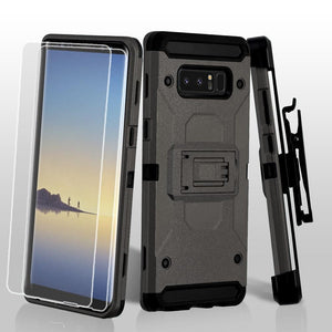 Kinetic 3-in-1 Holster Combo Galaxy Note 8 Case - Dark Grey