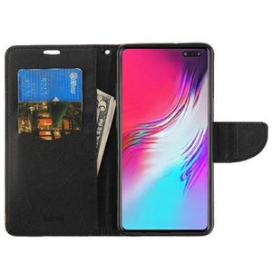 MyJacket Fancy Wallet Galaxy S10 5G Case - Black/Black
