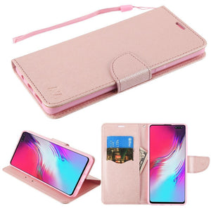 MyJacket Fancy Wallet Galaxy S10 5G Case - Rose Gold