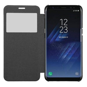 MYBAT View-Flip Cover Samsung Galaxy S8 Case - Black