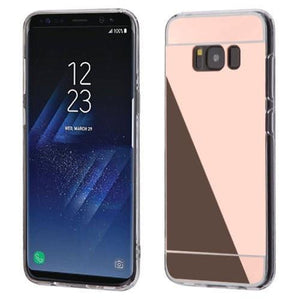 MYBAT Mirror Gummy Cover Galaxy S8+ Plus Case - Rose Gold