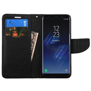 MYBAT Fancy Wallet Samsung Galaxy S8+ Plus Case - Black/Black
