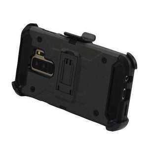 Kinetic Hybrid Galaxy S9+ Plus Case Holster Combo - Black/Black