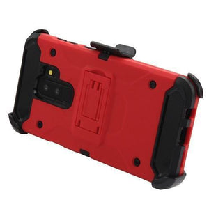 Kinetic Hybrid Galaxy S9+ Plus Case Holster Combo - Red/Black