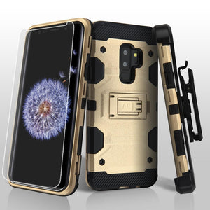 Military Grade Certified Storm Tank Galaxy S9+ Plus Case Holster - Gold