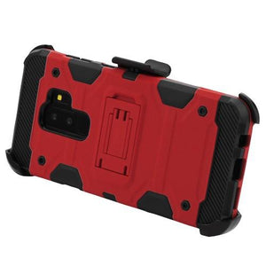 Storm Tank Galaxy S9+ Plus Case Holster Combo - Red/Black