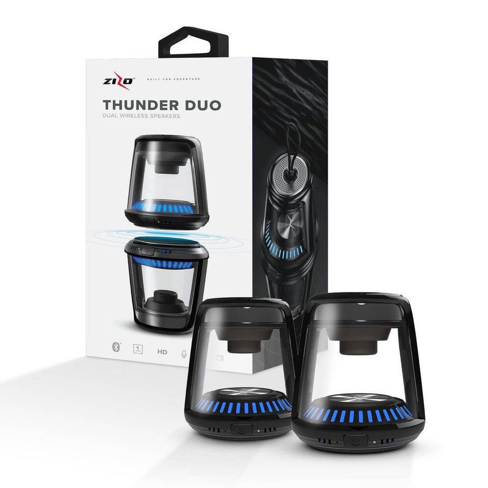 Zizo Thunder DUO TWS Bluetooth Wireless Speakers LED