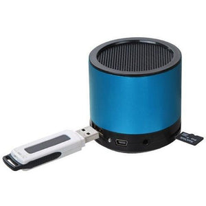 MYBAT Portable Mobile Speaker with SD and USB Slot - Blue