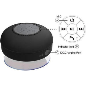 MYBAT Bluetooth 3.0 Mobile Wireless Suction Cup Speaker - Black