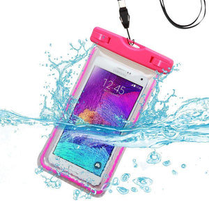 MYBAT Universal Waterproof Cellphone Bag (Glow-in-Dark) - Hot Pink