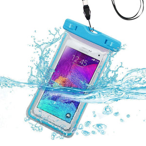 MYBAT Universal Waterproof Cellphone Bag (Glow-in-Dark) - Cool Blue