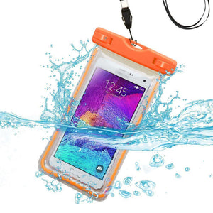 MYBAT Universal Waterproof Cellphone Bag (Glow-in-Dark) - Orange