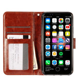 "Magnetic Detachable iPhone X / XS (5.8"") Wallet Case - Brown"
