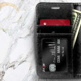ZV Leather Wallet Galaxy J3 V 3rd / J3 Star / Amp Prime 3 Case - Black