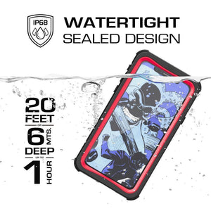 GHOSTEK Nautical iPhone X / Xs Rugged Waterproof Case - Red