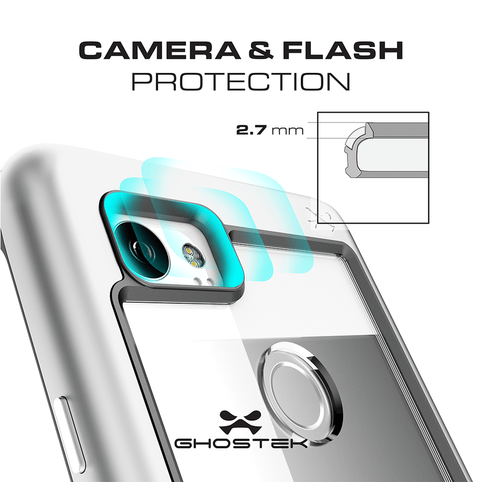 GHOSTEK Atomic Slim Series Google Pixel 2 XL Case - Silver