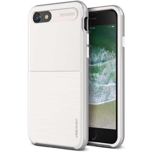 VRS Neo High Pro Shield iPhone 8 / iPhone 7 Case - White Silver