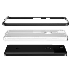 VRS Crystal Bumper Google Pixel 2 Case - Metallic Black/Clear