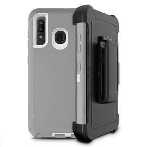 Rugged Defender Galaxy A10e (2019) Case Holster - Glacier