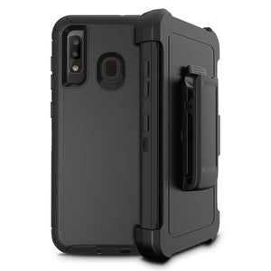 Rugged Defender Galaxy A20 (2019) Case Holster - Black