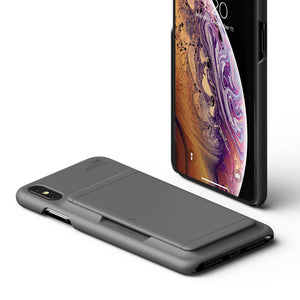 "VRS Damda Glide iPhone Xs Max (6.5"") Wallet Case - Steel Silver"