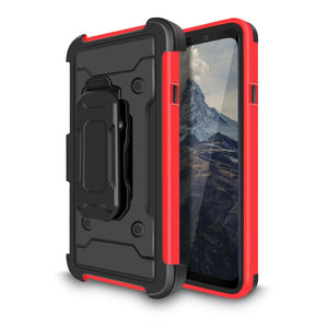 ZV Tough Armor Holster Galaxy S9 Case - Red