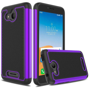 Grippy Shockproof Alcatel TETRA Case - Purple/Black