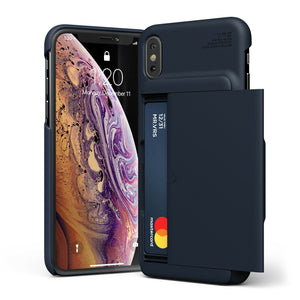 "VRS Damda Glide iPhone Xs Max (6.5"") Wallet Case - Deep Sea Blue"