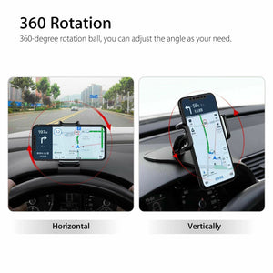 Car Phone Mount Rotating Dashboard/Air Vent Cell Phone Holder HUD