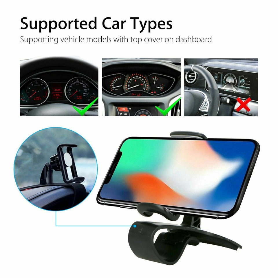 Dashboard Car Cell Phone Holder and Air Vent 2-in-1 Car Phone Mount