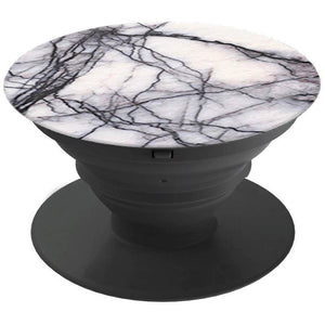 Pop Out Phone Expanding Grip / Stand / Holder Mount - White Marble
