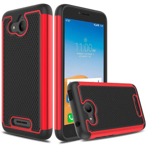 Grippy Shockproof Alcatel TETRA Case - Red/Black
