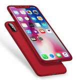 "Slim Fit Ultra Thin 360 Cover iPhone XS MAX (6.5"") Case - Red"
