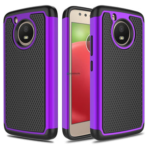Grippy Hybrid Motorola Moto E4 Plus Case - Purple