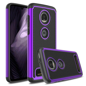 Shockproof Grippy Hybrid Motorola moto z4 Case - Purple