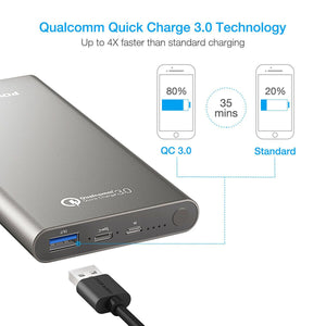 Poweradd Pilot 2GS 10,000mAh Qualcomm Quick Charge 3.0 Power Bank