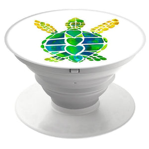 Pop Out Phone Expanding Grip / Stand / Holder Mount - Turtle