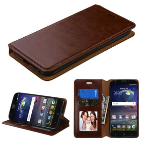 Book-Style Leather Wallet Samsung Galaxy S8 Case - Brown