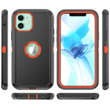 Heavy Duty Rugged Tough Shell iPhone 11 Pro Max Case - Black/Orange