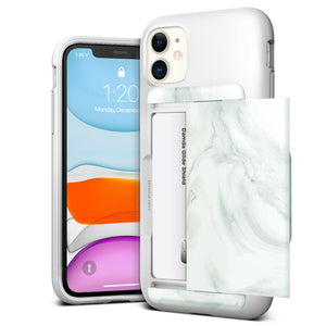 VRS Design Damda Glide Shield iPhone 11 Pro Case - White Marble