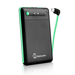 Tek-Republic Portable Charger 2500mAh Power Bank built-in Micro USB
