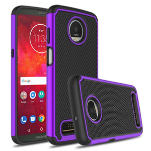 Grippy Hybrid Motorola moto z3 Case - Purple