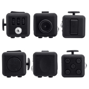 Fidget Cube Anxiety Stress Relief Focus Toy - Midnight(Black)