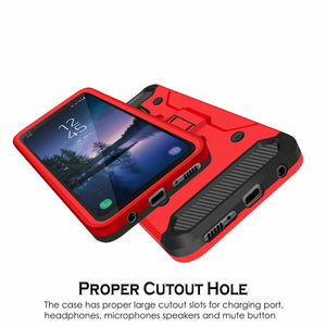 Kinetic Hybrid Holster Combo Galaxy S8 Active Case - Red