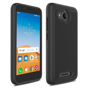 Grippy Shockproof Alcatel TETRA Case - Black/Black